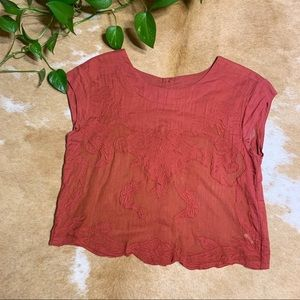 Free people, sheer embroidered, sz xs